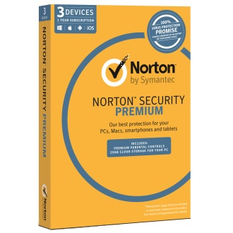 SYMANTEC NORTON SECURITY PREMIUM 3.0 25GB AU 1 USER 3 DEVICE 1YR MM