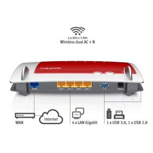 FRITZBOX 4040 INTERNATIONAL - porta WAN per il collegamento a modem cablato/ADSL/a fibra ottica o a una rete esistente - 4