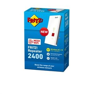 FRITZ!Repeater 2400 WiFi Mesh Wireless fino a 1.733 Mbit/s (5 GHz 4 x 4) e fino a 600 Mbit/s (2,4 GHz 4 x 4)
