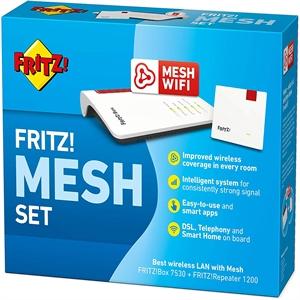 FRITZ! Mesh Set composto da FRITZ!Box 7530 e FRITZ!Repeater 1200