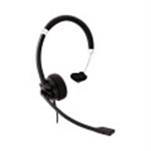 Cuffie V7 Deluxe HU411 Cavo Over-the-head Mono - Nero, Argento - Monoaurale - Supra-aural - 31,50 Hz a 20 kHz - 180 cm Cav