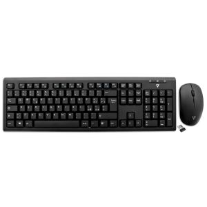 Tastiera ITALIANO e mouse USB WIRELESS RF - (Tastiera Qwerty , Mouse Ottico - 1600 dpi - 3 Pulsante - Scroll Wheel) - Nero