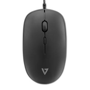 Tastiera  ITALIANO e mouse con cavo USB (ed adattatore Ps/2) -Nero - Mouse Ottico 1600 dpi - 3 Pulsante - Scroll Wheel - Q