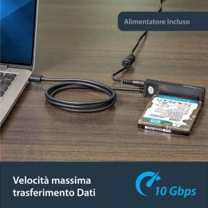 StarTech.com Cavo Adattatore USB 3.1 (10Gbps) per unità di disco SATA da 2,5 e 3,5 pollici - Estremità 1: 1 x SATA - Estre