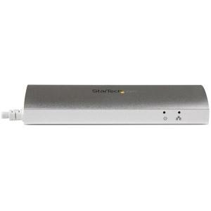 3 Port Portable USB 3.0 Hub plus Gigabit Ethernet - Aluminum and Compact USB Hub with Gigabit Ethernet Adapter - Silver Ap