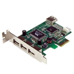 4 PORT PCI EXPRESS LOW PROFILE HIGH SPEED USB CARD - PCIE USB 2.0 CARD - PCI-E USB 2.0 CARD