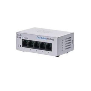 Switch Cisco CBS110 No administrable con 5 puertos 10/100/1000, de escritorio, el smartnet se adquiere por separado