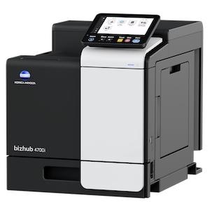 Impresora láser monocromática marca Konica Minolta modelo bizhub 4700i con velocidad de impresión 50 ppm tamaño carta; mem