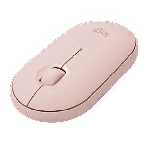 Mouse Logitech Pebble M350 - Frecuencia Bluetooth/Radio - USB - Óptico - 3 Botón(es) - Rosa - Inalámbrico - 2.40GHz - 1000