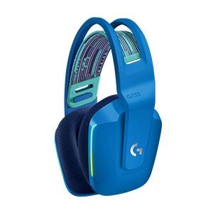 Auriculares de gaming Logitech G733 Inalámbrico Sobre la cabeza Estéreo - Azul - Binaural - Circumaural - 2000cm - 5Kilo O