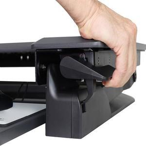 """Convertidor de escritorio para trabajar de pie o sentado Ergotron WorkFit-TL (negro)TM para Monitores <30"""" y peso de 4.5–1"""