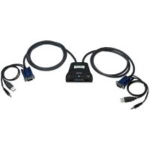 SWITCH KVM 2 PTOS USB Y 2PTOS VGA 3.5MM 1920X1440 CON CABLES