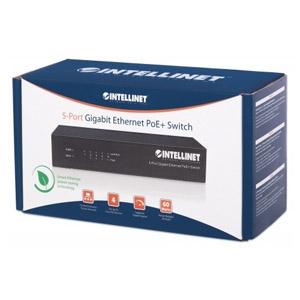 Conmutador Ethernet Intellinet 561228 5 - Gigabit Ethernet - 10/100/1000Base-T - 2 Capa compatible - Adaptador de alimenta