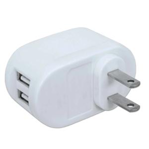 CARGADOR USB 2 PUERTOS 2.1A TOTAL (2 CEL O 1 TABLET)