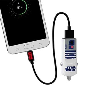 CARGADOR USB PARA AUTO STAR WARS R2D2