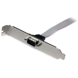 Adaptador de 40cm de Header Bracket Serial DB9 RS232 a IDC 10 Pines para Tarjeta Madre StarTech.com PLATE9M16