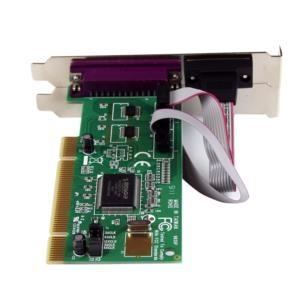 Tarjeta Adaptadora PCI de 2 Puertos Serial DB9 UART 16550 y 1 Puerto Paralelo StarTech.com PCI2S1P