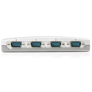 Adaptador Hub Concentrador USB Externo de 4 Puertos Serial RS232 DB9 StarTech.com ICUSB2324
