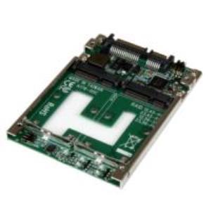 Adaptador Convertidor de SSD mSATA Doble a SATA RAID de 2.5 Pulgadas StarTech.com 25SAT22MSAT