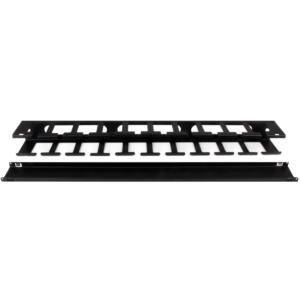 Panel Canaleta Horizontal de 1U con Cubierta para Gestión de Cableado en Racks y Perforaciones Laterales StarTech.com CMDU