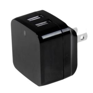 Cargador de Pared USB de 2 Puertos para Tablets Smartphones - Cargador de Alta Potencia para Viajes StarTech.com USB2PACBK