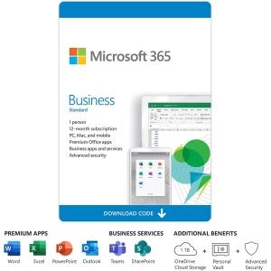 Microsoft 365 Business Standard - All Lng - Licencia de suscripcion (1 año) - 1 usuario (5 Dispositivos) - Descargable