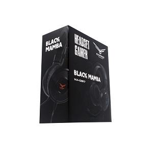DIADEMA GAMER BLACK MAMBA NEGRA ILUMINACION LED PLUG PLAY