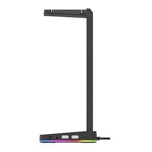 BASE PARA AUDIFONOS GAMER RGB 2 USB