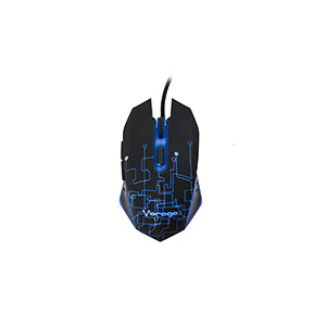 Vorago Mouse Start The Game Mo-501 Optico Iluminado Hasta 3200 Dpi'S USB Negro - Cable - 3200 dpi - Rueda de desplazamient