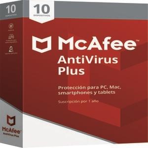 Mcafee Antivirus Plus, 1 año, Para 10 dispositivos