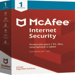 Mcafee Internet Security, 1 año, Para 1 dispositivo
