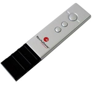 Presentador láser con frecuencia de 2.4GHz, texturizado ahulado y receptor USB removible, tecnología plug & play, compatib