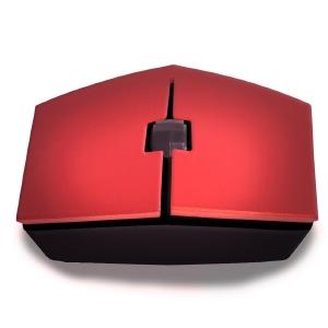 Mouse óptico inalámbrico rojo, USB, Prisma TechZone / 1200 DPI, alcance 10m, / Ideal para Home school y Home Office económ