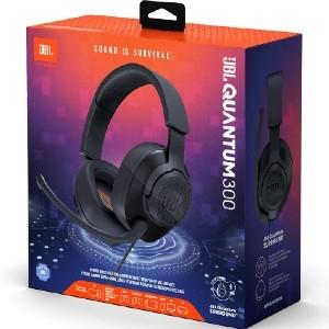 Auriculares de gaming JBL Quantum 300 Cableado Sobre la cabeza Estéreo - Negro - Binaural - Circumaural - 32Ohm - 20Hz a 2