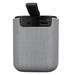 Sistema de Altavoces Acteck Beat Pórtatil Bluetooth - 5W RMS - Gris - 60Hz a 20kHz - Batería Recargable - USB - 1 Paquete(s)