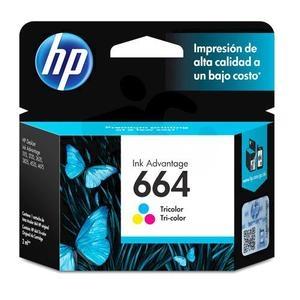 Cartucho de tinta HP 664 - Tricolor Original - Inyección de tinta - 100 Páginas