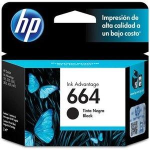 Cartucho de tinta HP 664 - Negro Original - Inyección de tinta - 120 Páginas