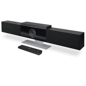 Poly Studio: Audio/Video USB Soundbar, with auto-track 120-deg FOV (Field of view) 4K Camera, USB stereo speakerphone, Blu
