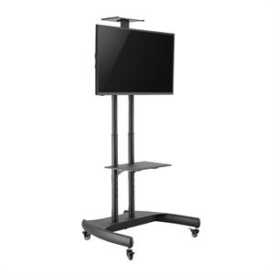 Soporte de suelo para televisiones con altura ajustable e inclinación