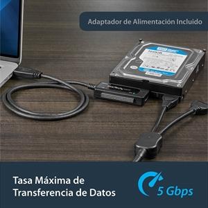 StarTech.com Adaptador Convertidor SATA IDE 2,5 3,5 a USB 3.0 Super Speed para Disco Duro HDD - Serial ATA USB A - Extremo