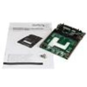 StarTech.com Adaptador Conversor de SSD mSATA Doble a SATA RAID de 2,5 Pulgadas - Convertidor - SATA/600 - Serie ATA/600 C