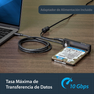StarTech.com Cable Adaptador USB 3.1 (10Gbps) para Unidades de Disco SATA de 2,5 y 3,5 Pulgadas - Extremo prinicpal: 1 x S