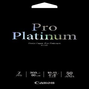 Canon PT1014X6-50 50 sheets, 4x6, 300gsm, Photo Paper Pro Platinum