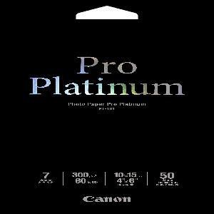 Canon PT1014X6-50 50 sheets, 4x6, 300gsm, Photo Paper Pro Platinum