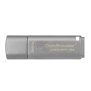 Kingston 32GB DataTraveler Locker+ G3 USB 3.0 Flash Drive - 32 GB - USB 3.0 - 135 MB/s Read Speed - 40 MB/s Write Speed -