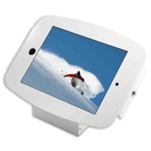 COMPULOCKS SECURE SPACE ENCLOSURE WITH 45 DEGREE WALL/COUNTER STAND FOR IPAD 2/3/4/AIR/AIR2/5TH GEN/PRO 9.7IN - WHITE