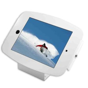 COMPULOCKS SECURE SPACE ENCLOSURE WITH 45 DEGREE WALL/COUNTER STAND FOR IPAD MINI 2/3/4 - WHITE