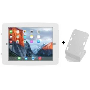 COMPULOCKS SECURE SPACE ENCLOSURE WITH 45 DEGREE WALL/COUNTER STAND FOR IPAD PRO 12.9IN - WHITE