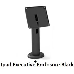 COMPULOCKS SECURE EXECUTIVE ENCLOSURE WITH RISE 20CM POLE MOUNT FOR IPAD 2/3/4/AIR/AIR2/5TH GEN/PRO 9.7IN - BLACK