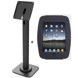 COMPULOCKS SECURE SPACE ENCLOSURE WITH RISE 40CM POLE MOUNT FOR IPAD PRO 12.9IN - BLACK